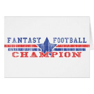 Campeón del fútbol de la fantasía tarjeta
