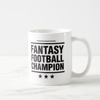 ¡Campeón del fútbol de la fantasía! Taza De Café
