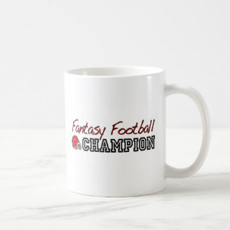 Campeón del fútbol de la fantasía tazas