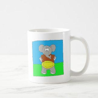 Campeón del fútbol del elefante tazas