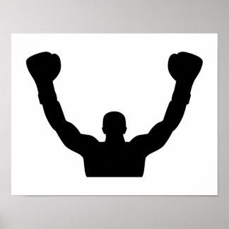 Campeón del ganador del boxeo posters