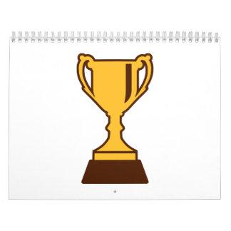 Campeón del ganador del trofeo de la taza calendarios