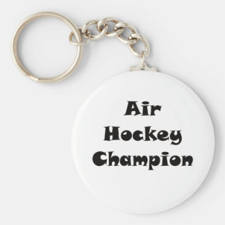 Campeón del hockey del aire llavero redondo tipo pin