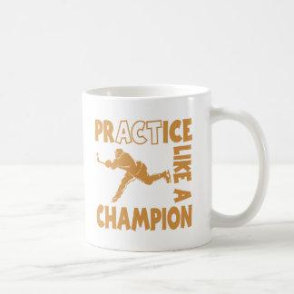 Campeón del hockey, oro taza básica blanca