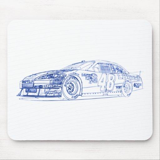 Campeón del impala 2010 de Chevy Tapetes De Ratones