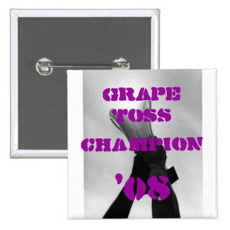 Campeón del lanzamiento de la uva pin cuadrada 5 cm