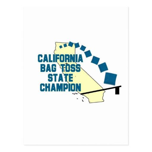 Campeón del lanzamiento del bolso de California Tarjetas Postales