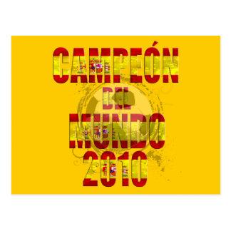 Campeón Del Mundo 2010 España futbol Postcard