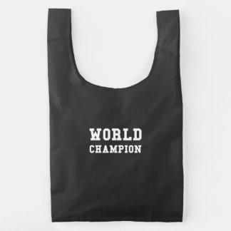 Campeón del mundo bolsa reutilizable