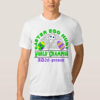 Campeón del mundo de la caza del huevo de Pascua Remera