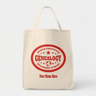 Campeón del mundo de la genealogía - personalizado bolsas