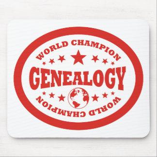 Campeón del mundo de la genealogía alfombrilla de ratón