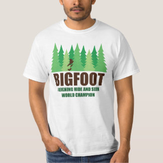 Campeón del mundo del escondite de Bigfoot Remeras
