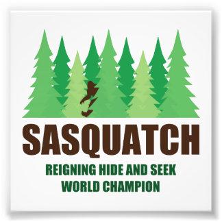 Campeón del mundo del escondite de Bigfoot Sasquat Cojinete