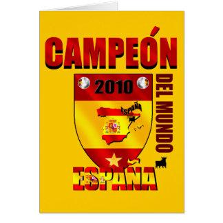 Campeón Del Mundo España Card