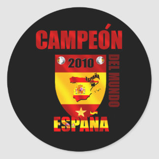 Campeón Del Mundo España Classic Round Sticker