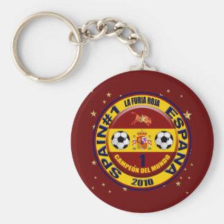 Campeón del mundo España futbol 2010 Basic Round Button Keychain