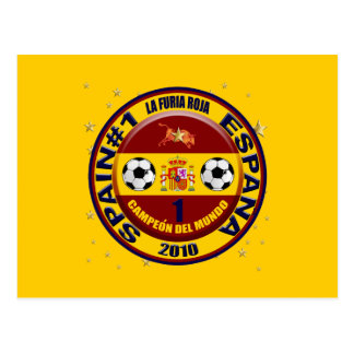 Campeón del mundo España futbol 2010 Postcard