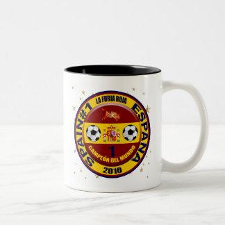 Campeón del mundo España futbol 2010 Two-Tone Coffee Mug