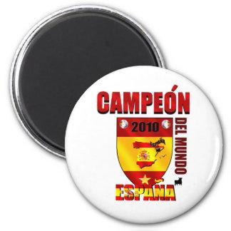 Campeón Del Mundo España Imán Redondo 5 Cm