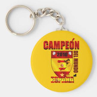 Campeón Del Mundo España Llavero Redondo Tipo Pin