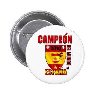 Campeón Del Mundo España Pin Redondo 5 Cm