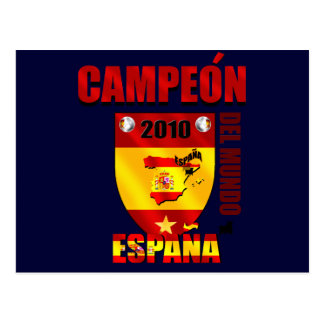 Campeón Del Mundo España Tarjeta Postal