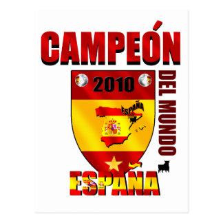 Campeón Del Mundo España Postales