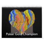Campeón del oro del póker calendarios