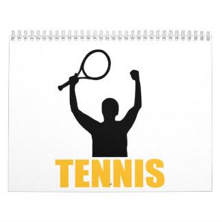 Campeón del partido del tenis calendarios de pared