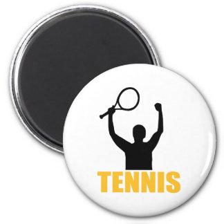 Campeón del partido del tenis imán de frigorifico