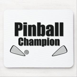 Campeón del pinball alfombrilla de raton