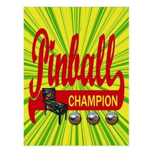 Campeón del pinball postales