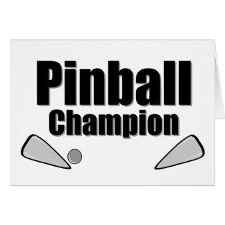 Campeón del pinball tarjeta de felicitación