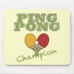 Campeón del ping-pong alfombrillas de raton