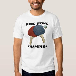 Campeón del ping-pong camisas