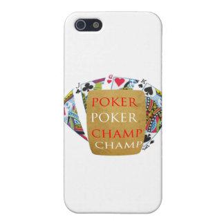 Campeón del póker ART101 - diseño de Zazzle iPhone 5 Carcasas