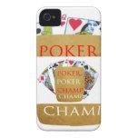 Campeón del póker ART101 - texto del diseñador del iPhone 4 Cobertura