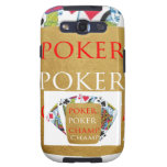 Campeón del póker ART101 - texto del diseñador del Samsung Galaxy S3 Funda
