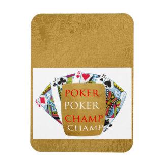 Campeón del póker ART101 - texto del diseñador del Imanes Rectangulares