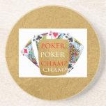 Campeón del póker ART101 - texto del diseñador del Posavasos Manualidades