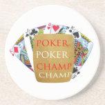 Campeón del póker ART101 - texto del diseñador del Posavasos Diseño