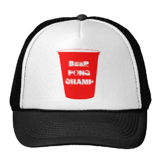 campeón del pong de la cerveza gorra