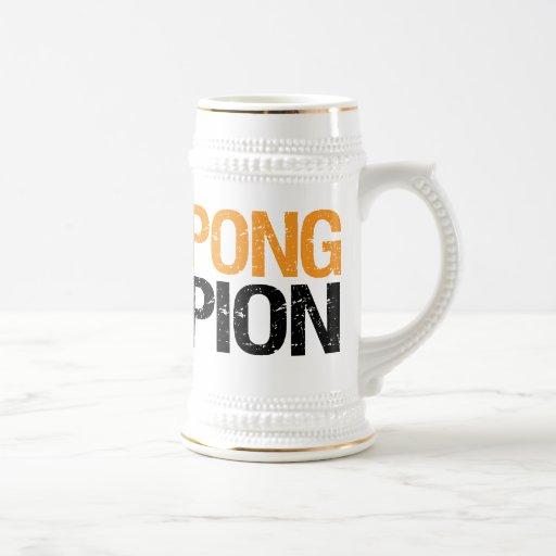 campeón del pong de la cerveza jarra de cerveza