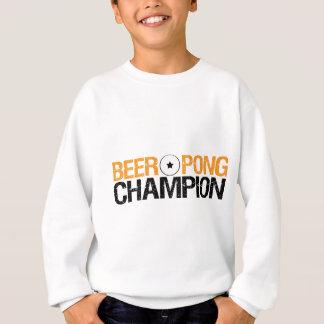 campeón del pong de la cerveza sudadera