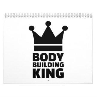 Campeón del rey del Bodybuilding Calendarios De Pared