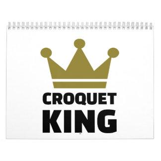 Campeón del rey del croquet calendario de pared