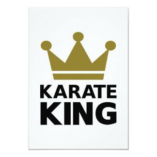 Campeón del rey del karate invitación 8,9 x 12,7 cm