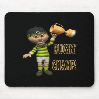 Campeón del rugbi tapete de ratones