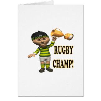 Campeón del rugbi felicitaciones